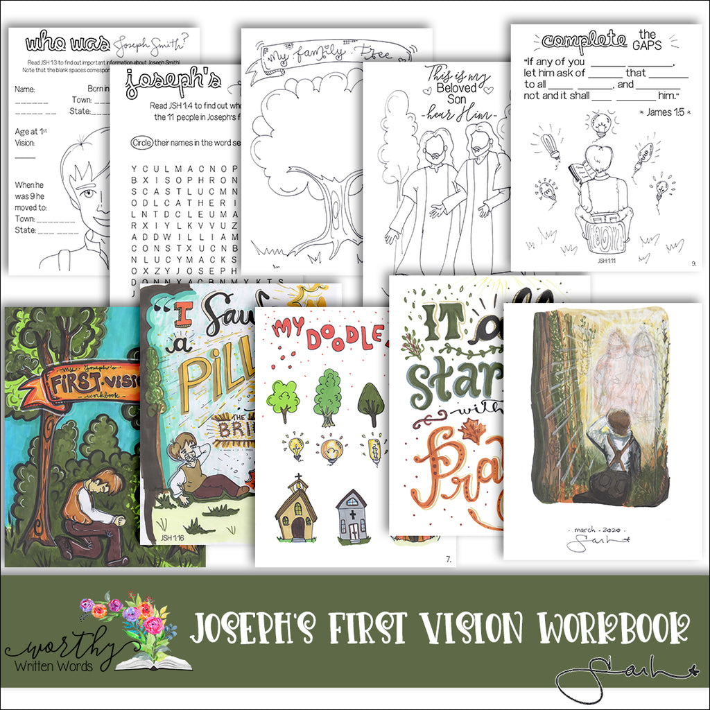 Joseph's First Vision Workbook For Children and Youth