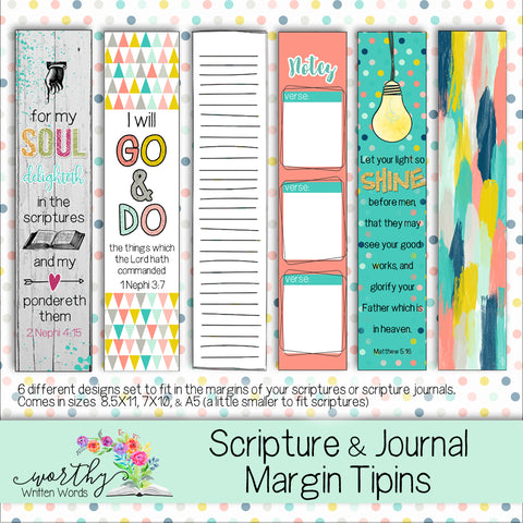 Scripture and Journal Margin Tipins