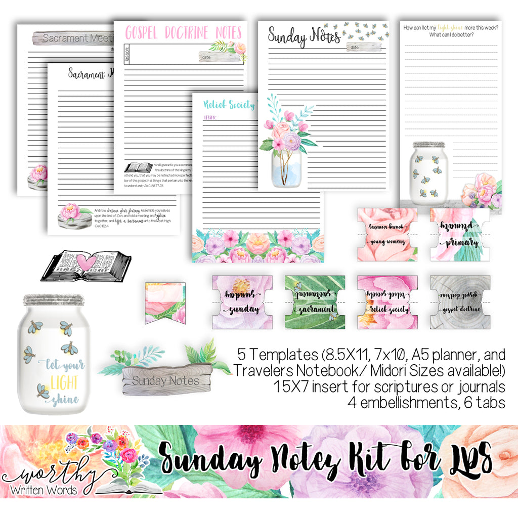 Sunday Notes Kit for LDS