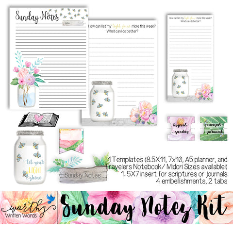 Sunday Notes Kit