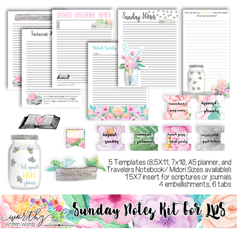 LDS Sunday Notes Kit
