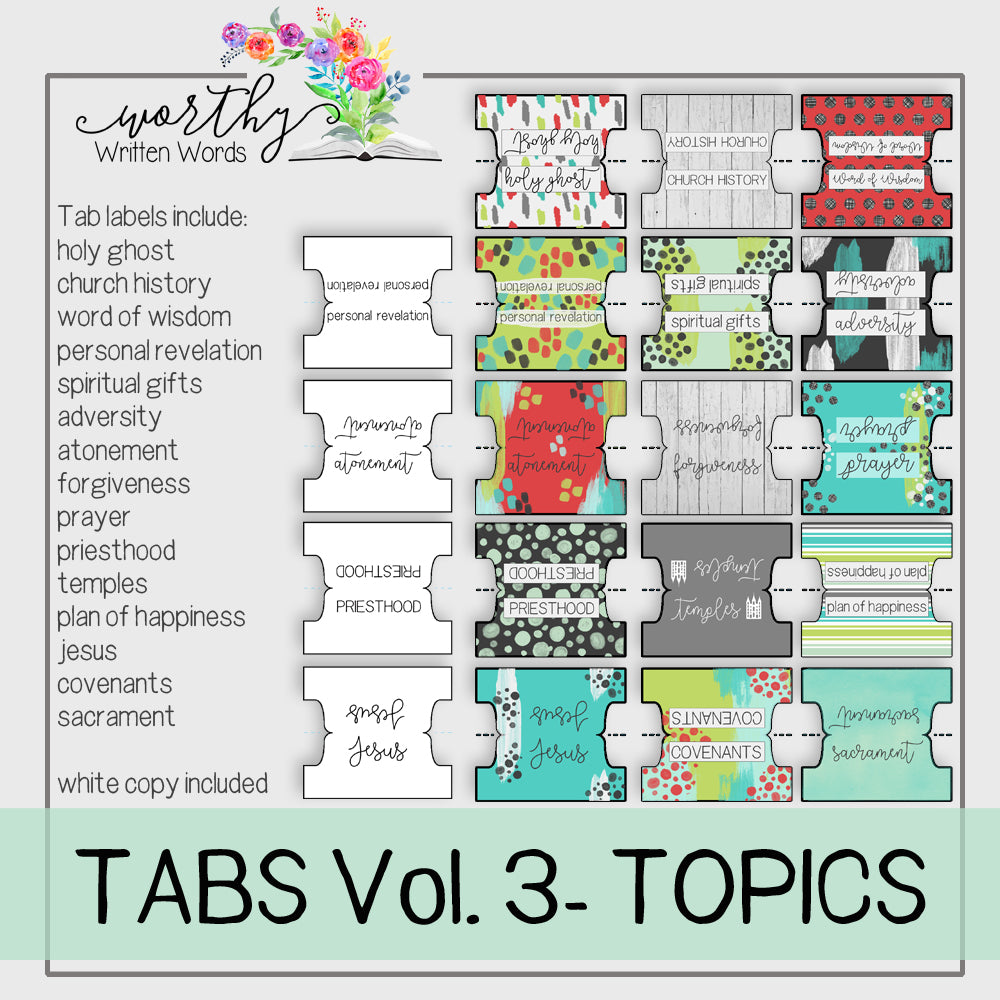 Tabs Volume 3- Topics