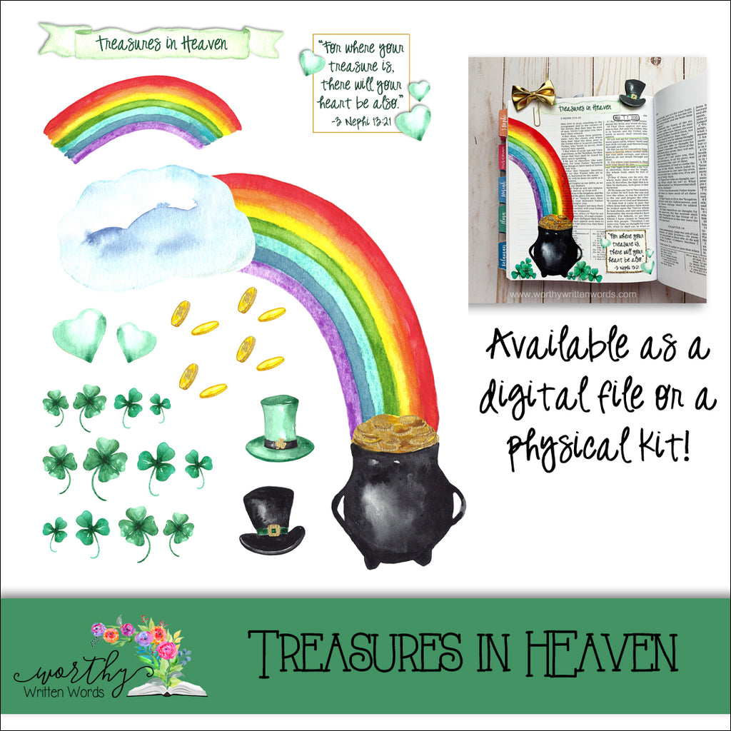 Treasures in Heaven Page Kit
