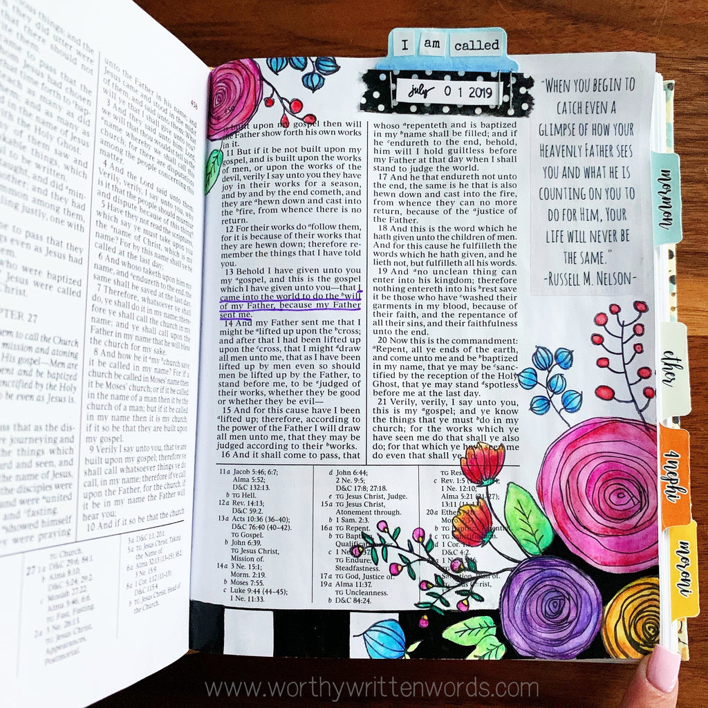 Wordy Bits: My Testimony Sticker Sheet