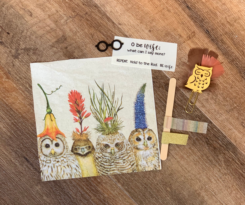 O Be Wise Owl Page Kit