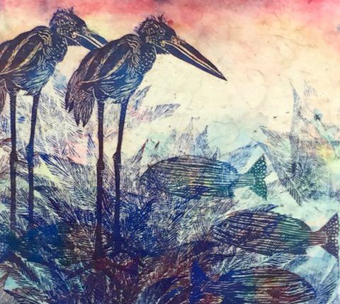 """Fish, Ferns and Birds"" Cora Brittan"