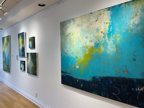 """""""Weird Fishes"""" Installed at Earls Court Gallery"""