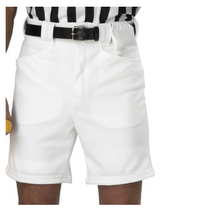 "FBS170 White Football Shorts  w/ 9"" inseam"