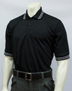 USA300- Short Sleeve Black Umpire Shirts w/ Black & White Trim