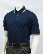 BBS300 -3772- Navy w/ RWB Trim Short Sleeve Umpire Shirt