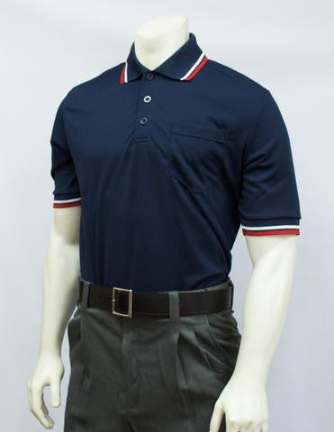 USA300- Short Sleeve Navy Umpire Shirts w/RWB Trim