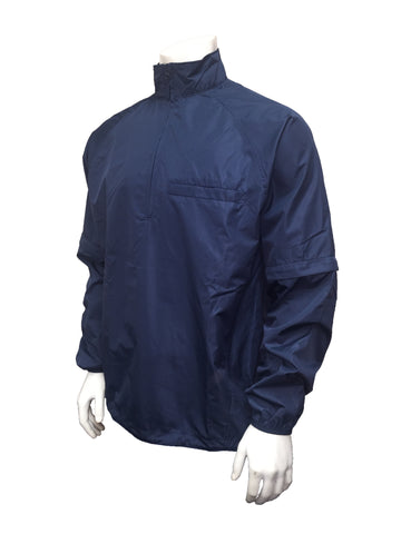 BB-S326 - Lightweight Convertible NAVY BLUE Baseball and Softball Umpire Jackets