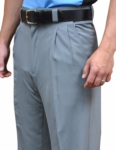 "BBS391HG -Smitty ""4-Way Stretch"" Pleated Combo Pants-Heather Grey"