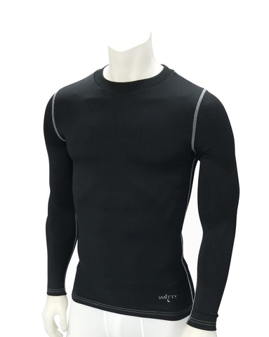 FBS417 - SMITTY LONG SLEEVE BLACK COMPRESSION SHIRT