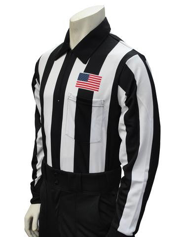 "USA110 - FS - 2 1/4"" LONG SLEEVE FOOTBALL SHIRT w/USA FLAG on LEFT CHEST"