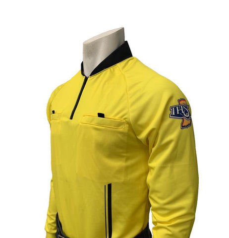 "USA901IN-YW -9005- ""PERFORMANCE MESH"" ""IHSAA"" Yellow Long Sleeve Soccer Shirt"