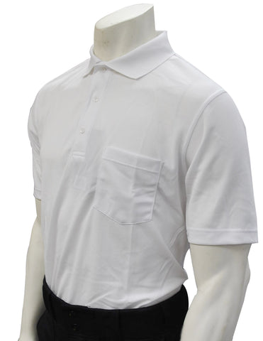 VB-s485 Short Sleeve, Solid WHITE Volleyball Official Shirt W/ POCKET