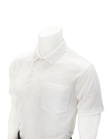 VBS487 - Men's White Mesh Shirt with Collar and Chest Pocket