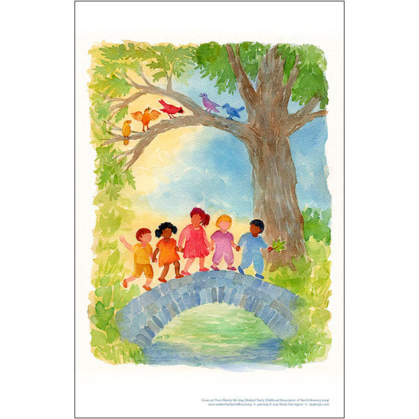 Merrily We Sing - WECAN Cover Art Print for Home and Classroom