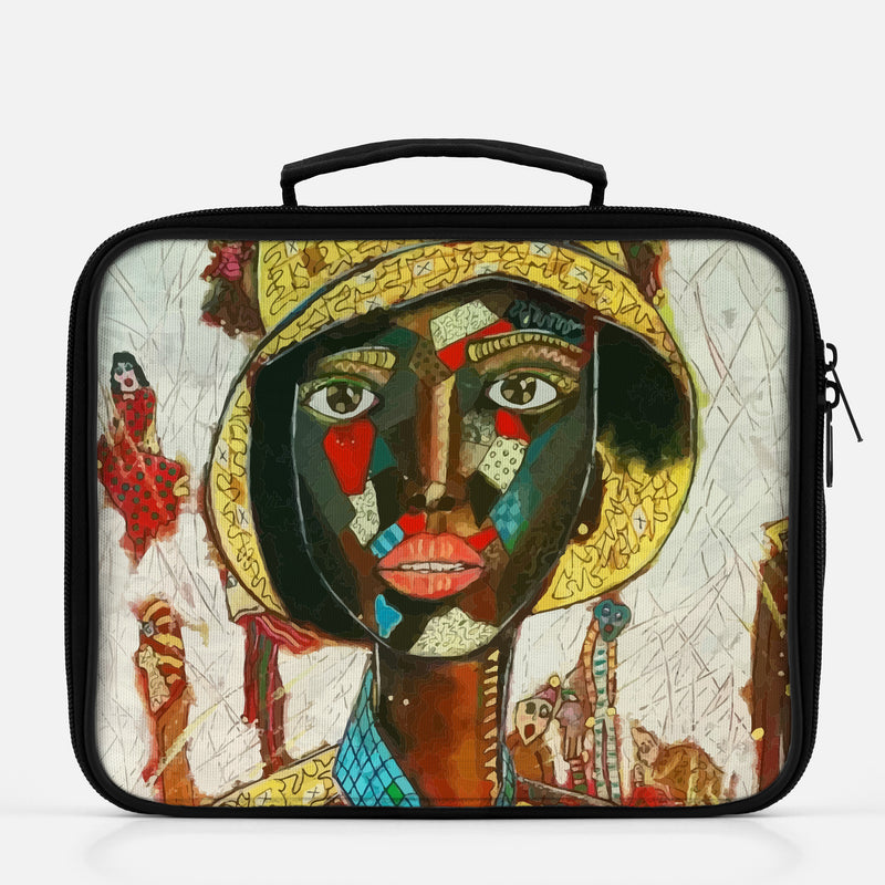 Lunchbox featuring original artwork, Phenomenal Woman, by Penelope Przekop