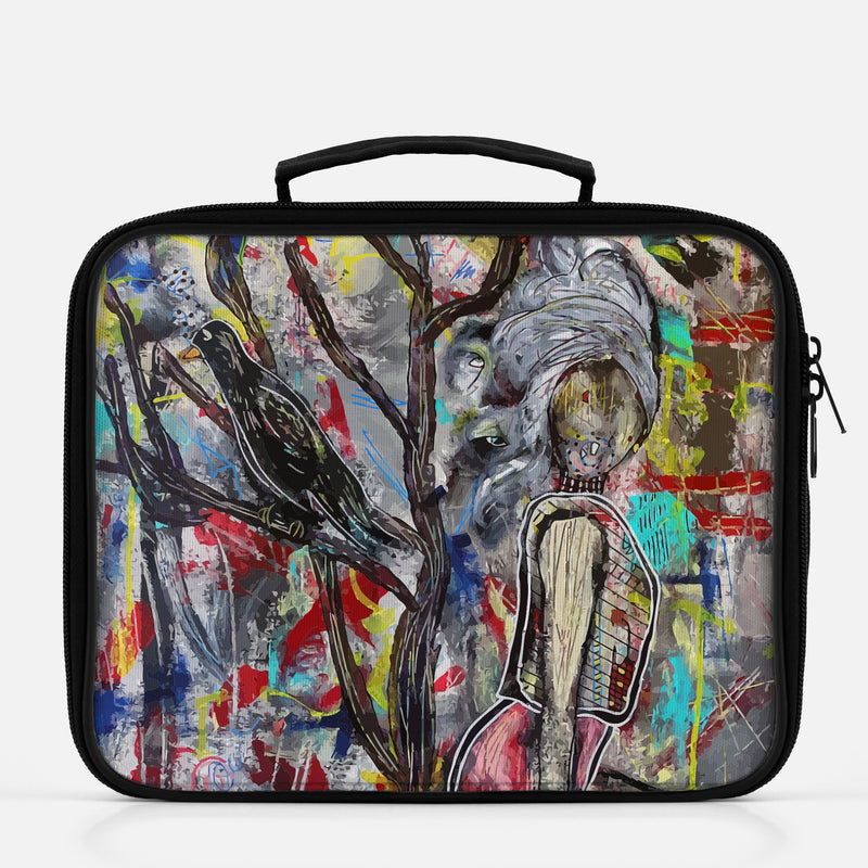 Lunchbox featuring original artwork, Singing in the Dead of Night, by Penelope Przekop