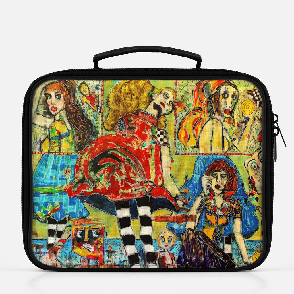 Lunchbox featuring original artwork, Life Is But a Stage, by Penelope Przekop