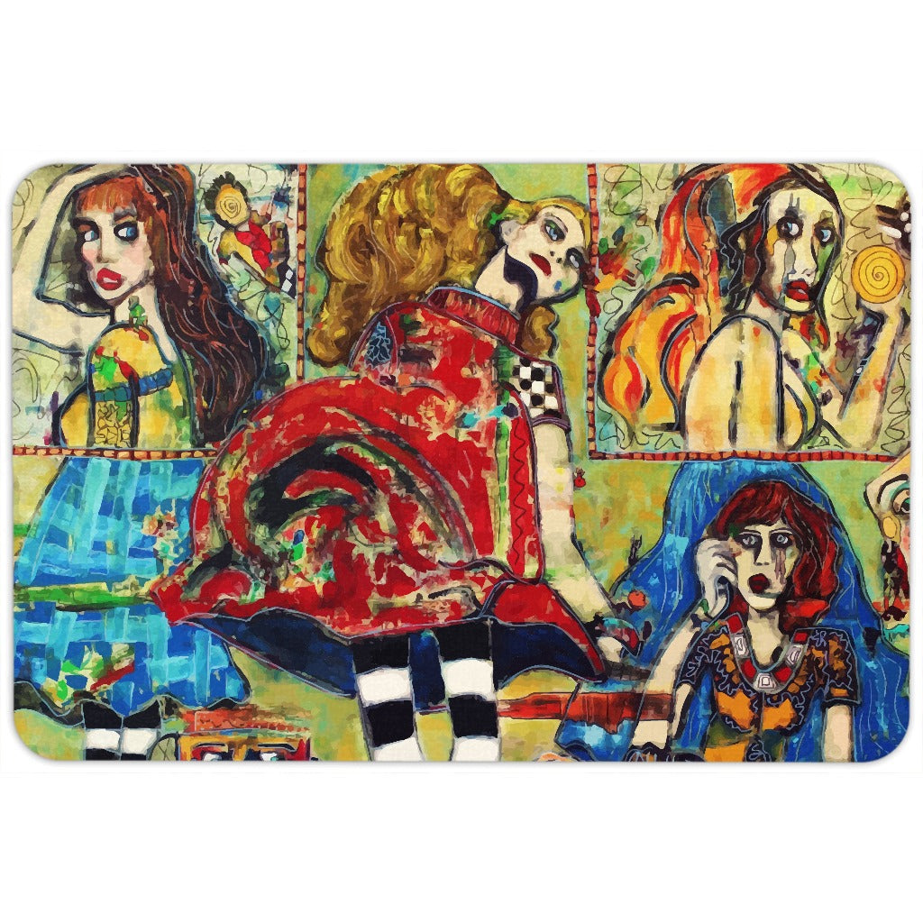 The World is But a Stage | Colorful Floormat for $29.00 at Przekop Design Company