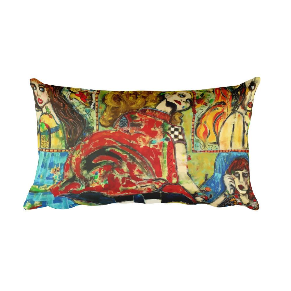 The World is But a Stage | Rectangular Pillow for $36.00 at Przekop Design Company