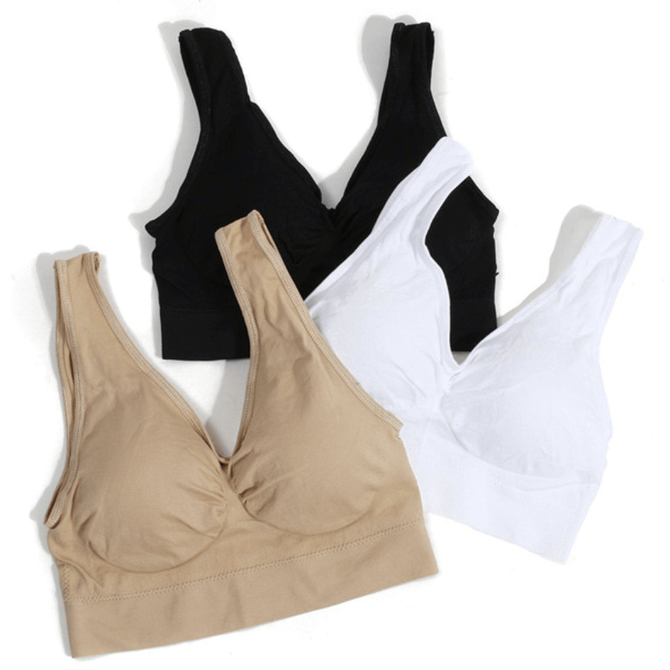 Classic Soft Cup Sports Bra (3 pcs)