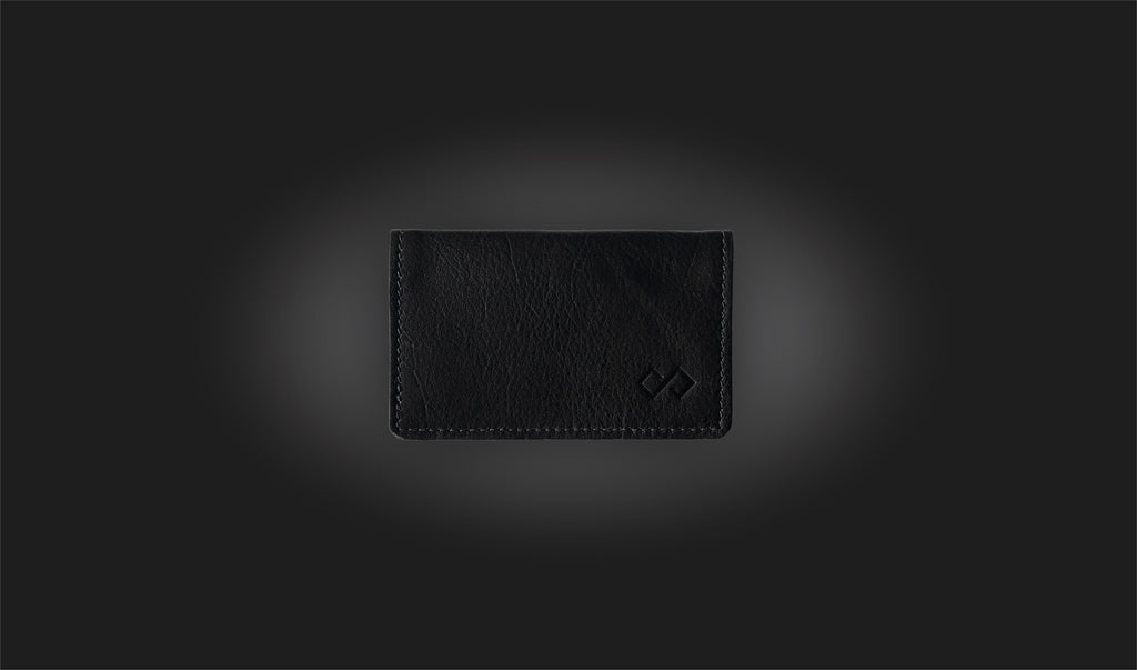 Black Infinity Wallet leather wallet minimalist wallet slim wallet awesome gift for him