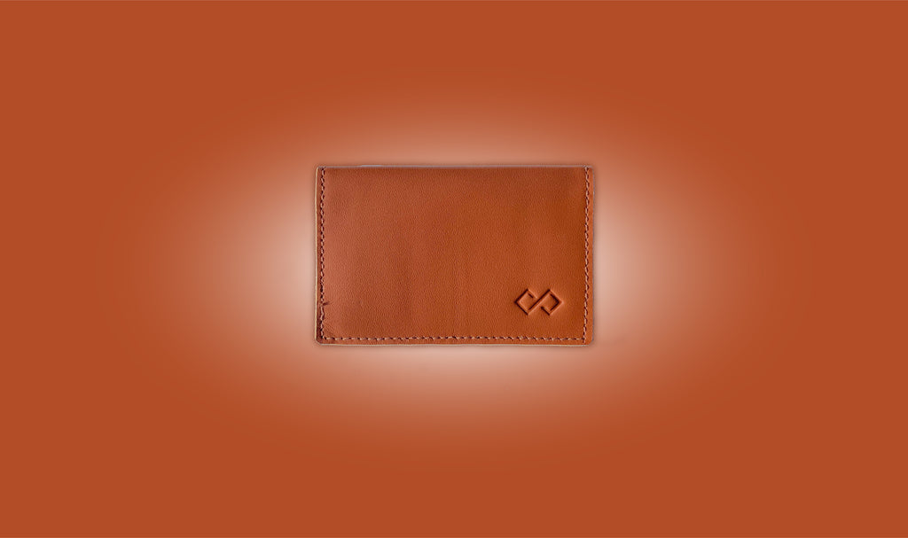 Cognac Brown Wallet Infinity Wallet leather wallet minimalist wallet slim wallet awesome gift for him