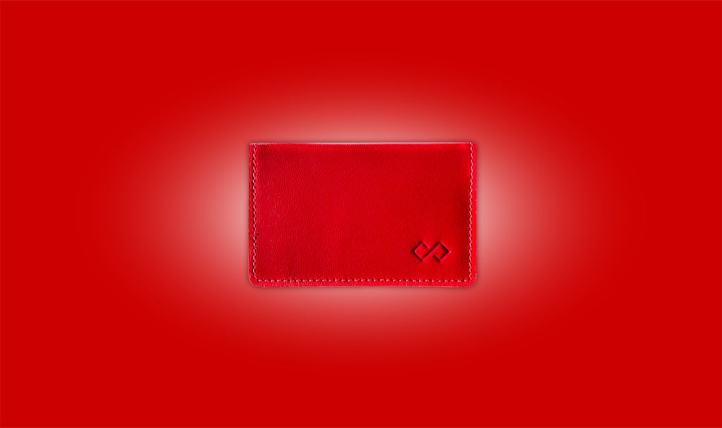 Red Infinity Wallet leather wallet minimalist wallet slim wallet awesome gift for him