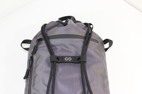 Infinity Sternum Straps on Charcoal Daypack