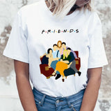 friends tv show t shirt tshirt top tee shirt women female femme ulzzang t-shirt Harajuku Casual Vintage Printing Funny girl