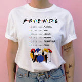 friends tv show women t shirt new hip hop 90s friend tshirt harajuku femme clothes top tee t-shirt clothing streetwear