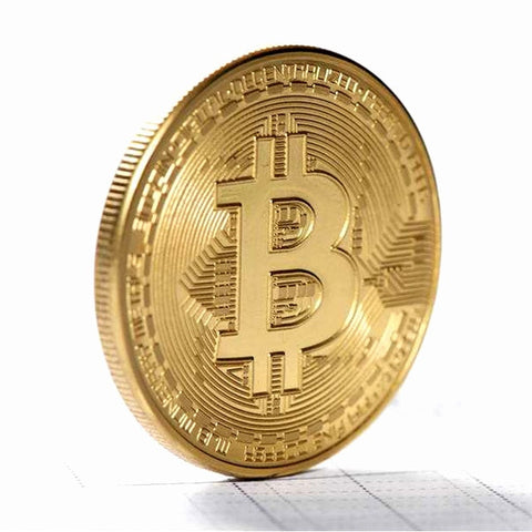 Novelty Historic Commemorative Bitcoin Coins Metal Gold Plated Souvenir Coins