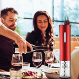 Electric Wine Opener, Cordless Electrical Wine Bottle Opener, Battery Operated Corkscrew  with wine accessories