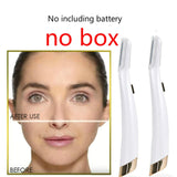 Dermaplane Face Hair Remover Facial Glow Expoliator Electric Glo Lighted Lady Razor Shaver Painless Expoliates Dead Skin Tool
