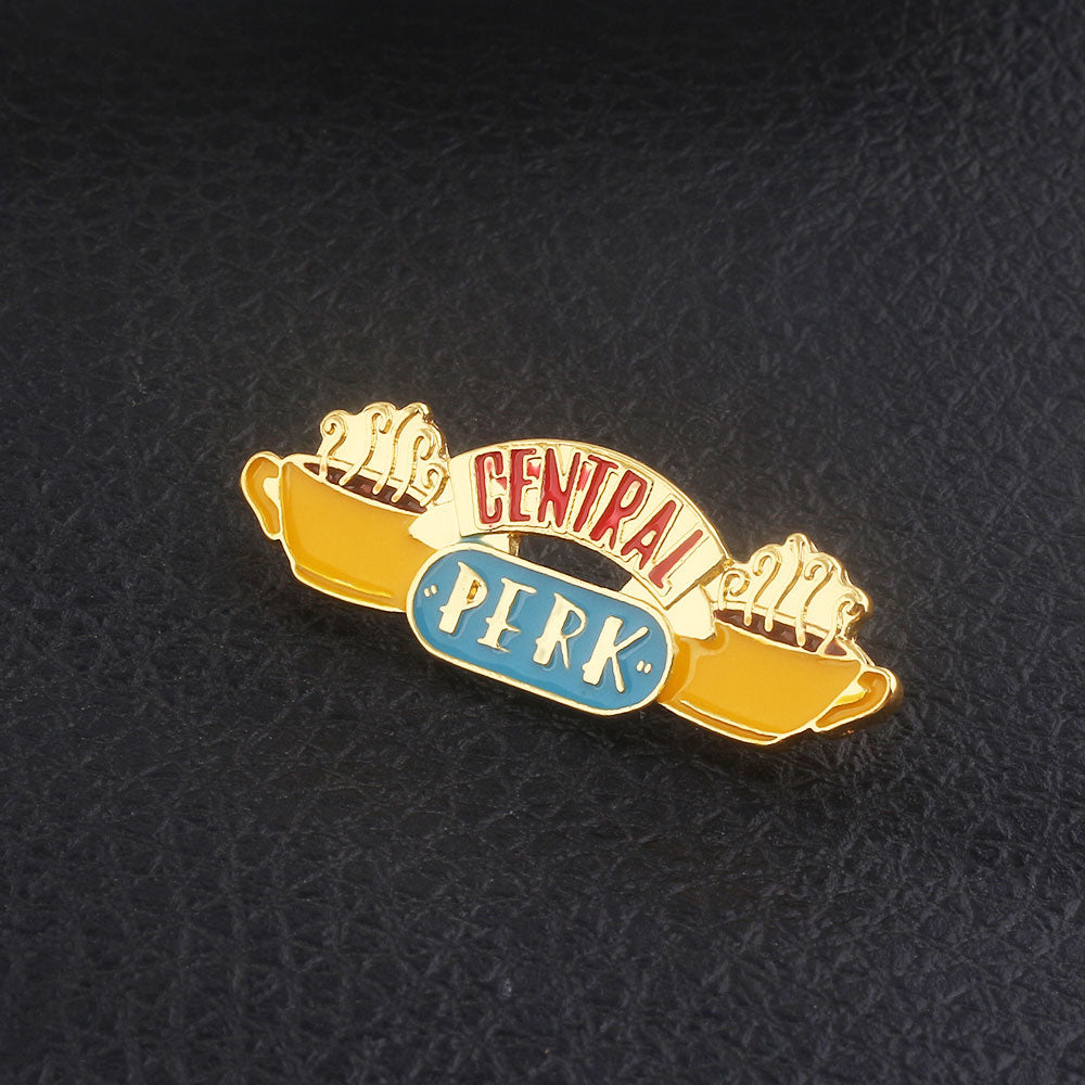 American TV show Friends Badge Brooch Central Perk Coffee Time Pendant Enamel Pins Brooches Women Men Lapel pin Jewelry Gift
