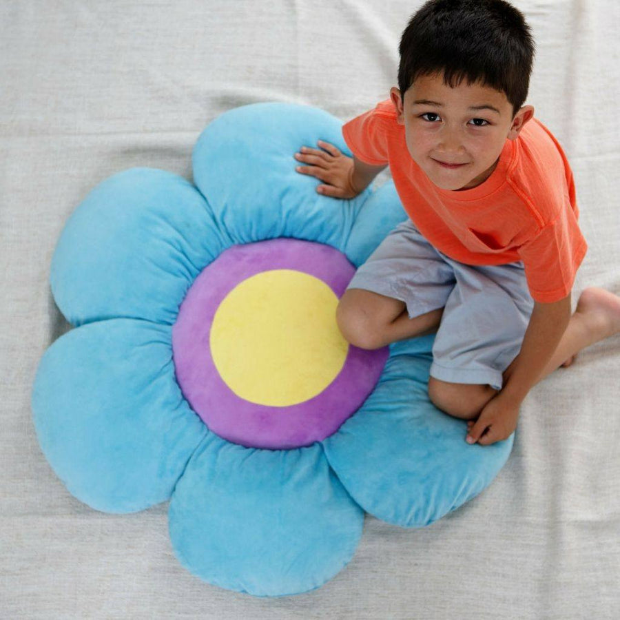 Brave Blue Flower Floor Pillow