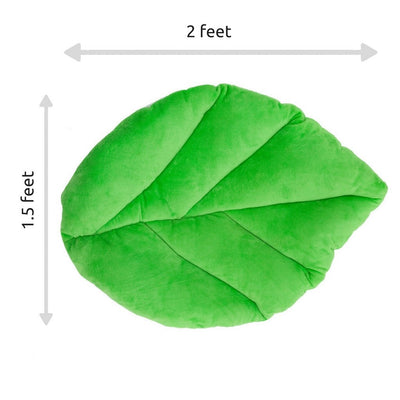 Leaf Pillow with dimensions by Floor Bloom