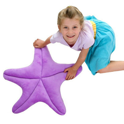 Perfectly Purple Starfish Floor Pillow
