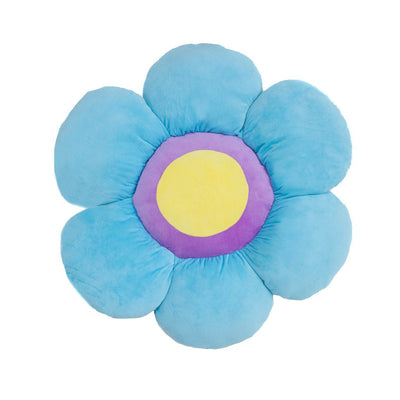 Blue Flower Pillow by Floor Bloom