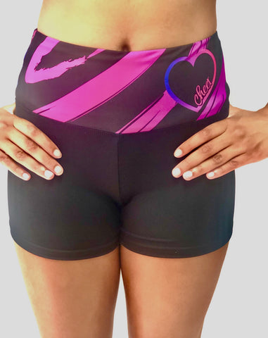 Zebra High-waisted Sport Shorts