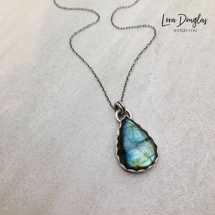 Labradorite Pendant Sterling Silver Necklace
