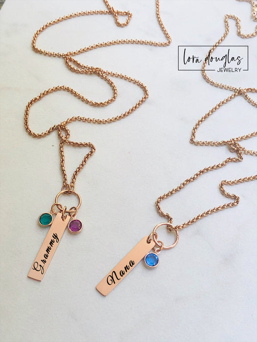 Birthstone Necklace, Personalized Birthstone Jewelry