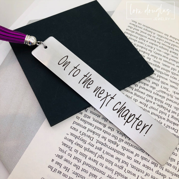 On to the Next Chapter, Tassel Bookmark