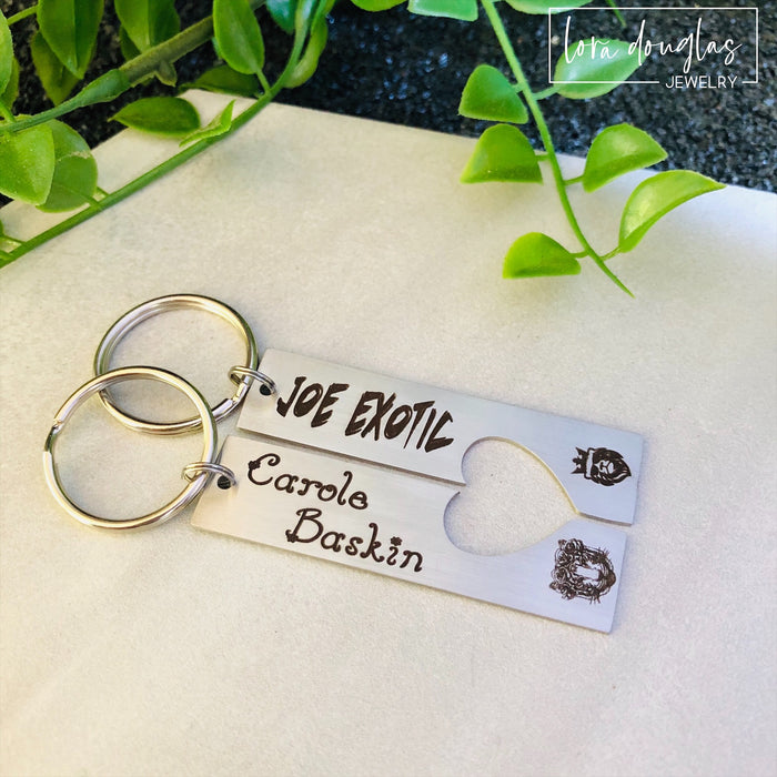 Joe Exotic, Carole Baskin, His and Hers Key Chains