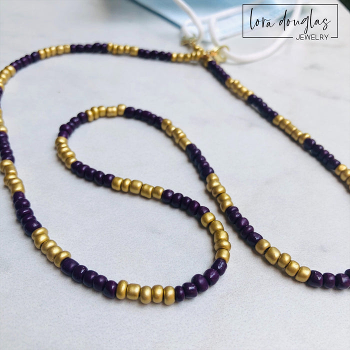 Mask Lanyard, Mask Holder, Mask Necklace | LSU