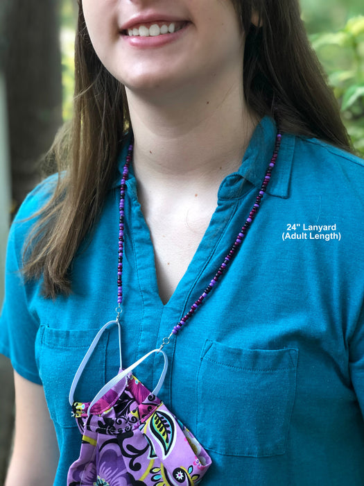 Mask Lanyard, Mask Holder, Mask Necklace | Purple